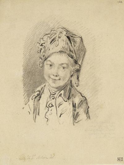 Album factice : Buste de jeune garçon, coiffé d'un bonnet-Augustin De Saint-aubin-Giclee Print