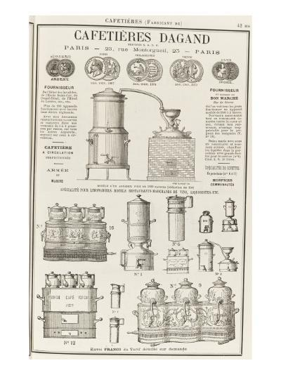 Album illustré de l'Almanach Didot-Bottin : Fabricant de cafetière Dagand--Giclee Print