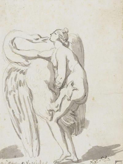 Album : Jupiter et Ganymède d'après Raphaël et son atelier ; Léda et le cyg-Jacques-Louis David-Giclee Print