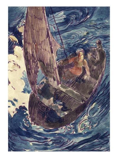 Album Noa-Noa : Homme dans une barque-Paul Gauguin-Giclee Print