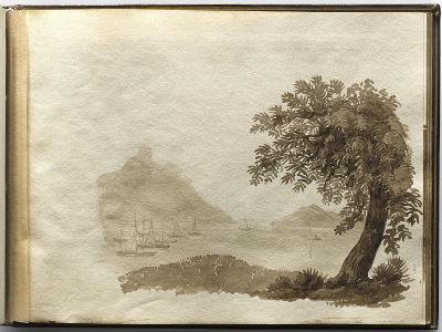 Album of Drawings Charlotte Napoleon: View of a Lake--Giclee Print