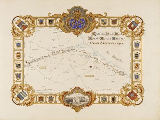 Album relié: Itinéraire et vues du chemin de fer du Nord-Edouard Denis Baldus-Giclee Print