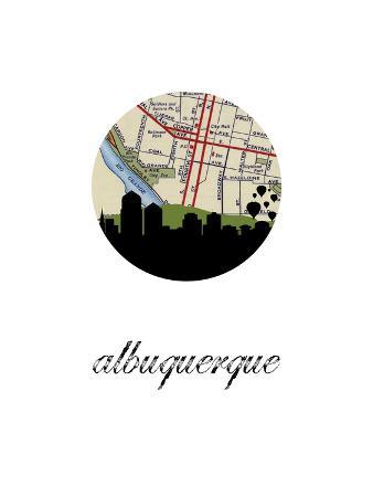 albuquerque-map-skyline