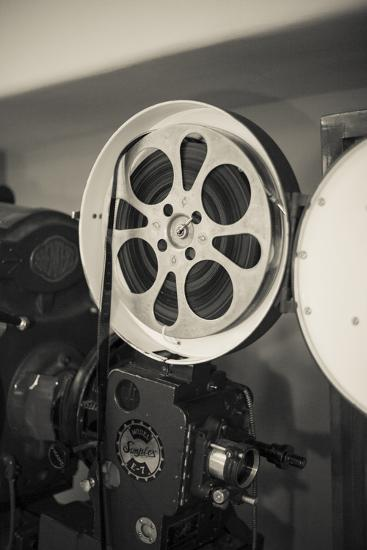 Albuquerque, New Mexico, USA. Central Ave, Route 66 Vintage Film Projector at the Kimo Theater-Julien McRoberts-Photographic Print