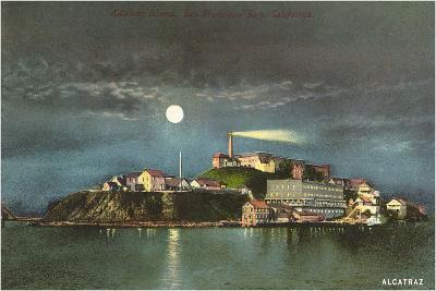 Alcatraz by Night--Art Print
