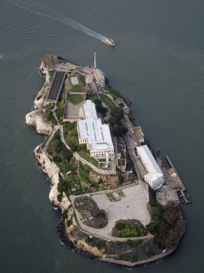 Alcatraz Island and Boat, San Francisco Bay, California-Marli Miller-Photographic Print