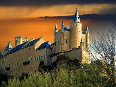 Alcazar Castle at Sunset, Segovia, Spain-Jaynes Gallery-Photographic Print