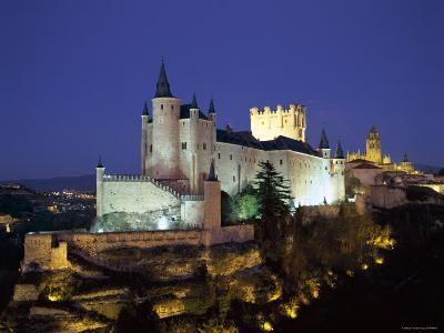 Alcazar, Night View, Segovia, Castilla Y Leon, Spain-Steve Vidler-Photographic Print