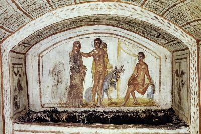 Alcestis in Front of Hercules and Cerberus, Via Latina Catacomb, Rome, Italy--Giclee Print