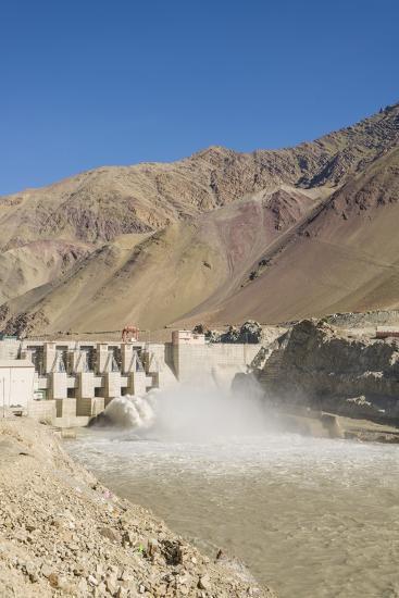 Alchi, the Dam along Indus River-Guido Cozzi-Photographic Print