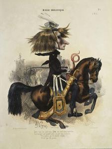 Caricature de Liszt by Alcide Joseph Lorentz