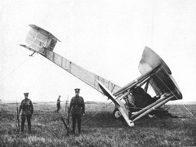 Alcock and Brown's Aeroplane after Completing the First Non-Stop Transatlantic Flight, 1919--Giclee Print