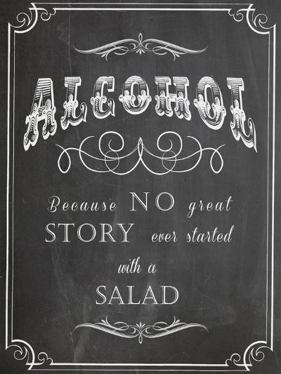 Alcohol Salad-Indigo Sage Design-Art Print