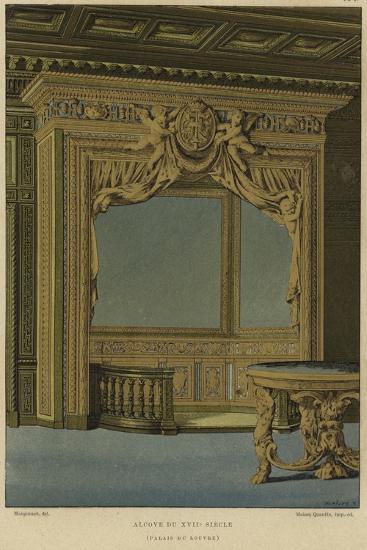 Alcove, Palais Du Louvre, Paris, 17th Century--Giclee Print