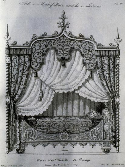 Alcove with Bed from Arti E Manifatture Antiche E Moderne (Ancient and Modern Arts and Manufacturer--Giclee Print