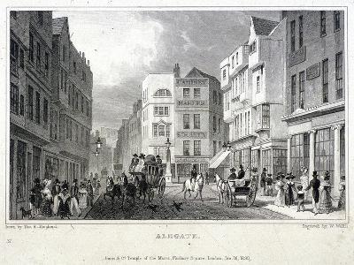 Aldgate, London, 1830-W Wallis-Giclee Print