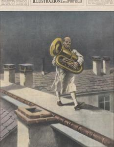 At Hettstadt Germany Joseph Furst a Member of the Municipal Band Marches Playing His Horn by Aldo Molinari