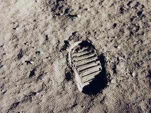 Aldrin's Footprint on the Moon, 1969