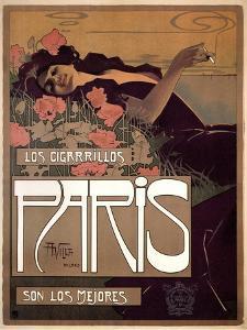Los Cigarillos Paris, 1901 by Aleardo Villa
