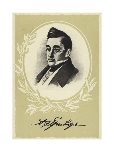 Aleksander Griboyedov, Russian Diplomat, Playwright, Poet and Composer--Giclee Print