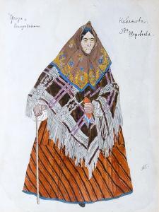 Costume Design for the Play 'The Storm, by Alexander Ostrovsky, 1916 by Aleksandr Golovin