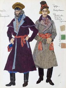 Costume Design for the Play 'The Storm' by Alexander Ostrovsky, 1916 by Aleksandr Golovin