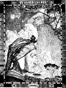 Dante Alighieri, Medieval Italian Poet, 1921 by Aleksandr Golovin