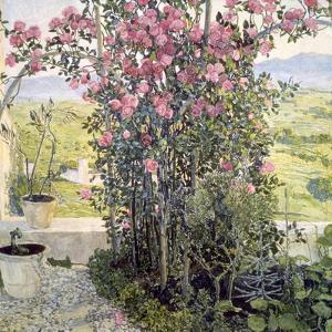 The Valley in Umbria, 1910s by Aleksandr Golovin