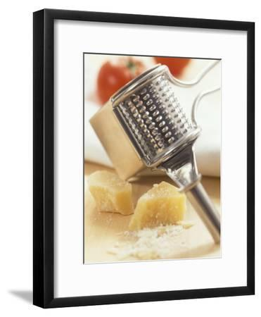Whole and Grated Parmesan Cheese, Grater