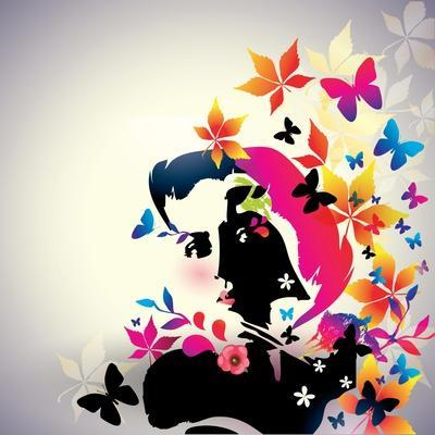 Vector Floral Girl