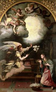 The Annunciation, 1579 by Alessandro Allori