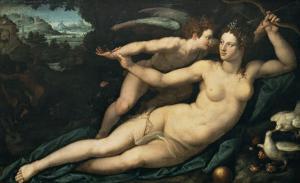 Vénus et l'Amour by Alessandro Allori