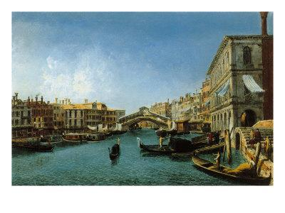 View of the Grand Canal from the Riva Del Vin and Riva Del Carbon