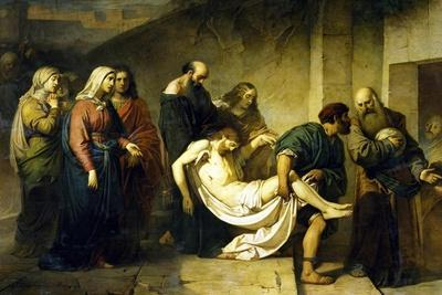 Transporting Christ to Tomb, Circa 1855