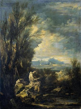 Landscape with a Carthusian Hermit, Perhaps Saint Bruno