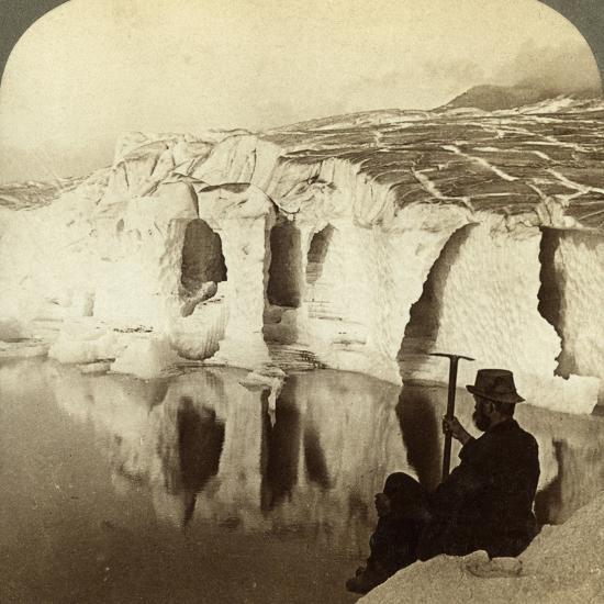Aletsch Glacier and Marjelen Lake, Switzerland-Underwood & Underwood-Photographic Print