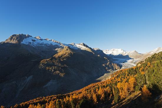 Aletsch Glacier, Jungfrau-Aletsch, UNESCO World Heritage Site, Valais, Swiss Alps, Switzerland, Eur-Christian Kober-Photographic Print