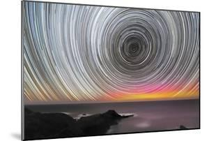 Aurora Australis And Star Trails by Alex Cherney