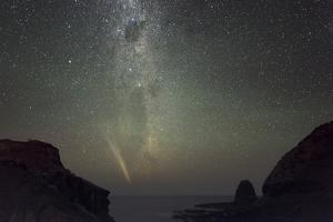Comet Lovejoy And the Milky Way by Alex Cherney