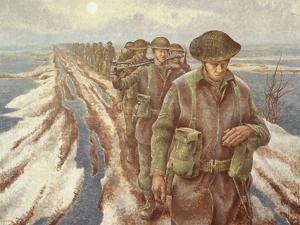 Infantry Near Nijmegen, C.1940 by Alex Colville