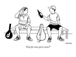 """""""Care for some sports wine?"""" - New Yorker Cartoon by Alex Gregory"""