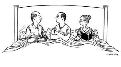 """""""Helen, is it possible that we are using our child as an intimacy barrier?"""" - New Yorker Cartoon by Alex Gregory"""