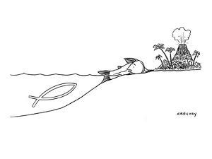 """""""I guess this is where we part ways."""" - New Yorker Cartoon by Alex Gregory"""