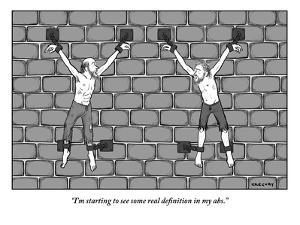 """""""I'm starting to see some real definition in my abs.""""  - New Yorker Cartoon by Alex Gregory"""