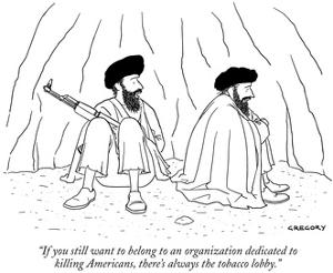 """""""If you still want to belong to an organization dedicated to killing Ameri…"""" - New Yorker Cartoon by Alex Gregory"""