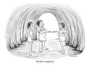 """""""The dirt is imported."""" - New Yorker Cartoon by Alex Gregory"""