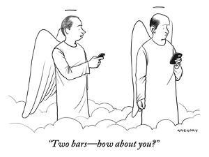 """""""Two bars?how about you?"""" - New Yorker Cartoon by Alex Gregory"""