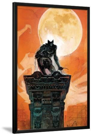 Moon Knight No.4 Cover: Moon Knight Crouching on a Column