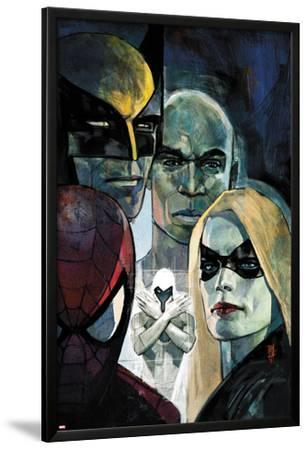 Moon Knight No.6 Cover: Ms. Marvel, Spider-Man, War Machine, Moon Knight, Luke Cage, and Wolverine by Alex Maleev