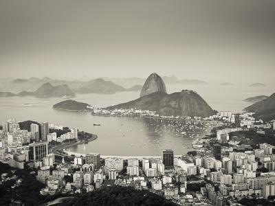 Brazil, Rio De Janeiro, Sugar Loaf (Pao De Acucar) and Morro De Urca in Botafogo Bay